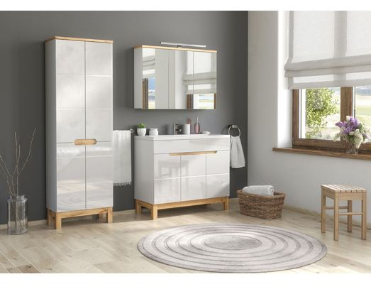 Fürdőszoba bútor - fehér - BARI