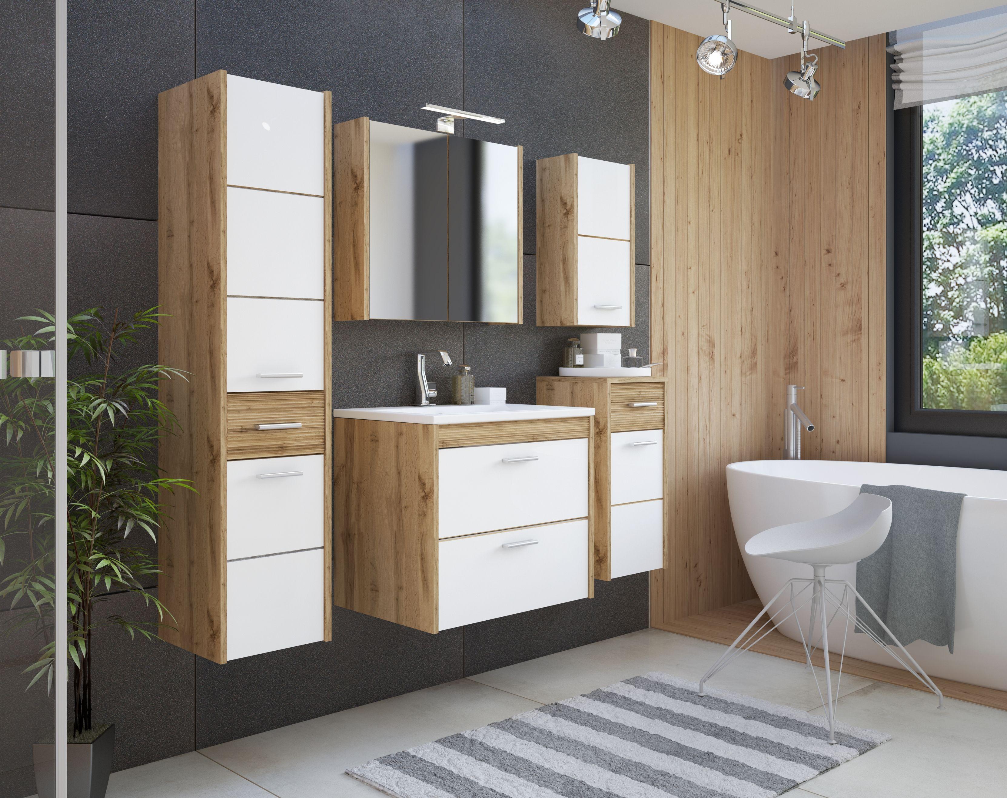 Fürdöszoba bútor – fehér - EIVISSA WHITE