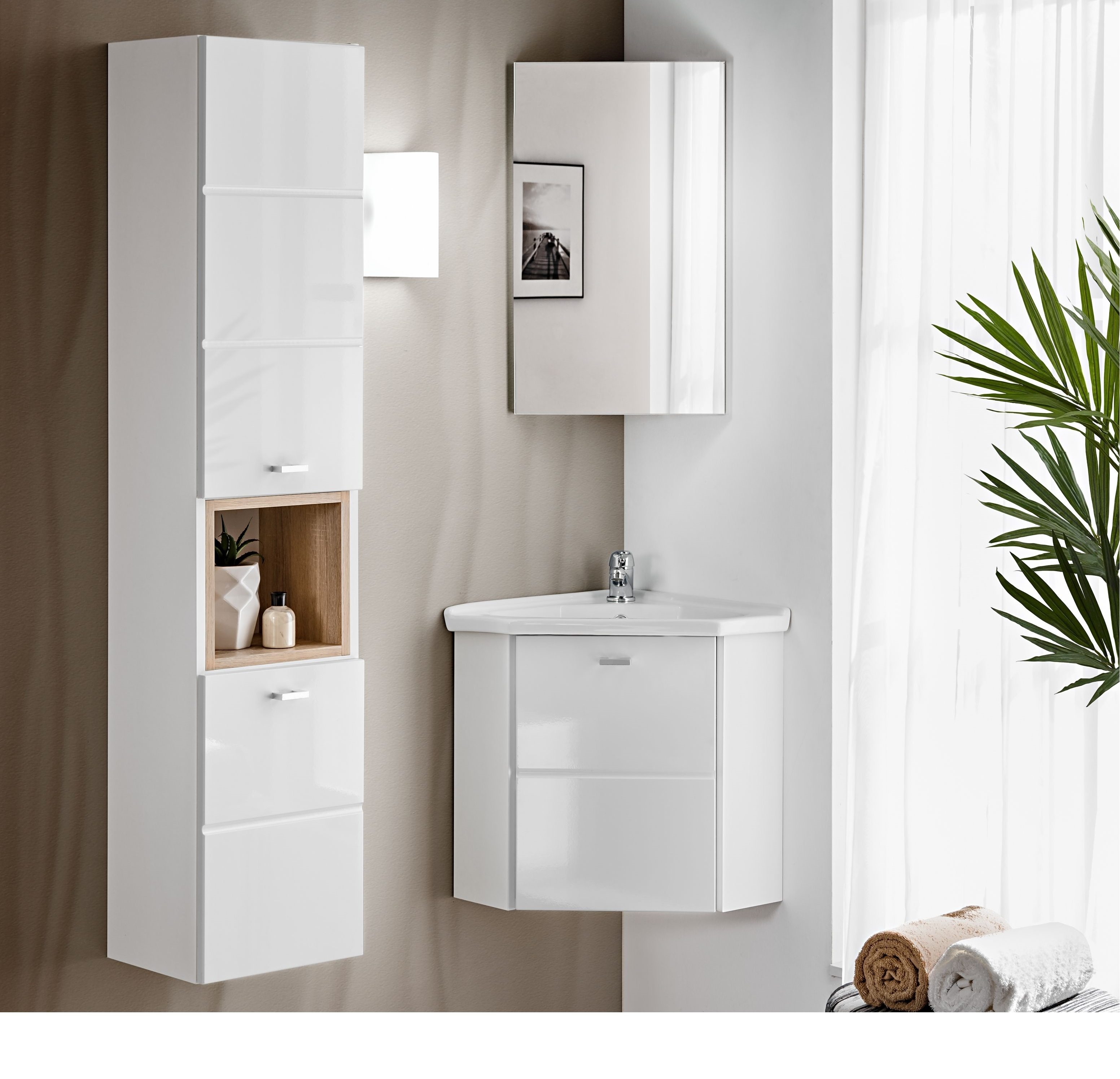 Fürdőszoba bútor - fehér - FRINGUELLO