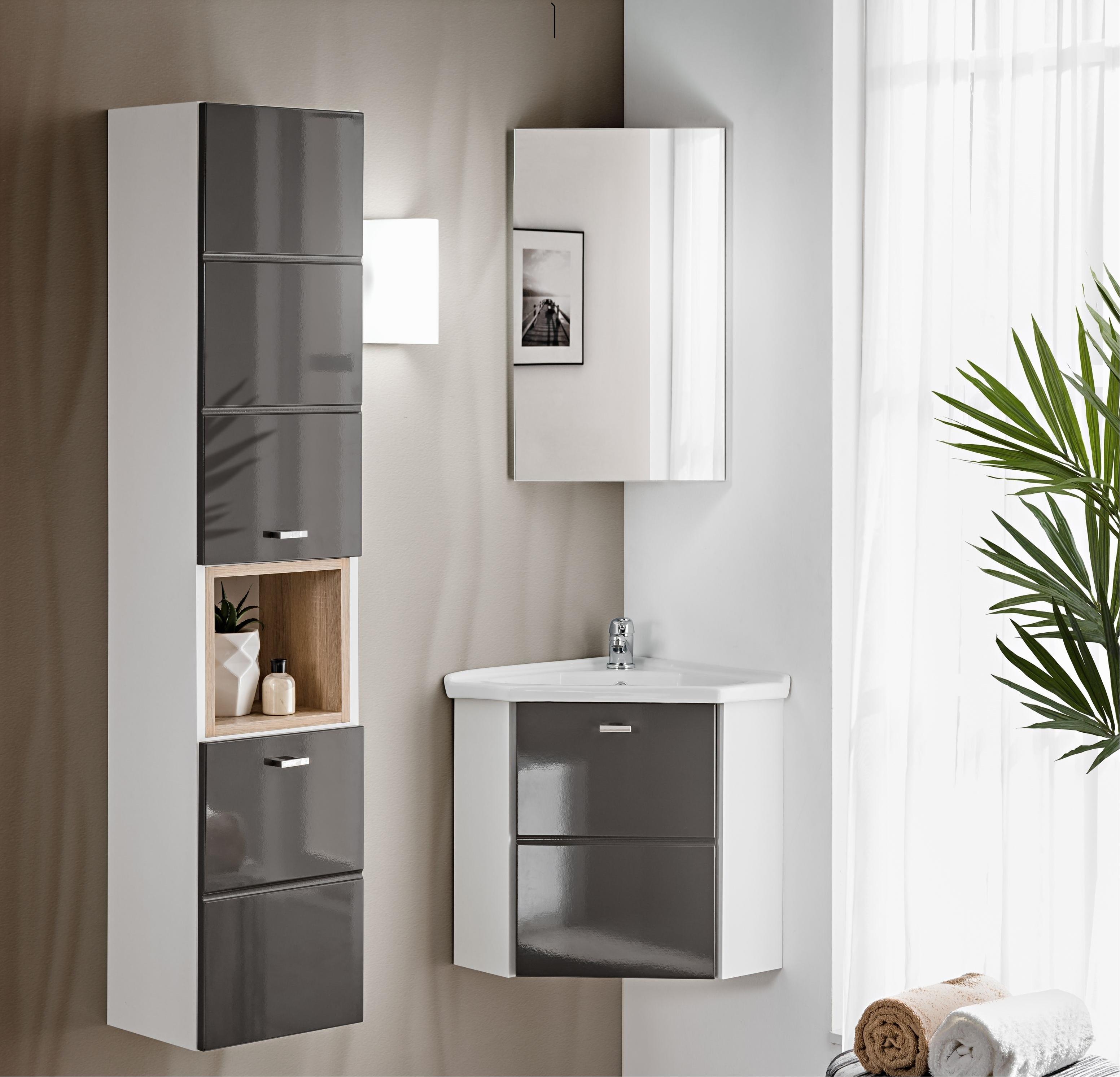 Fürdőszoba bútor - szürke - FRINGUELLO