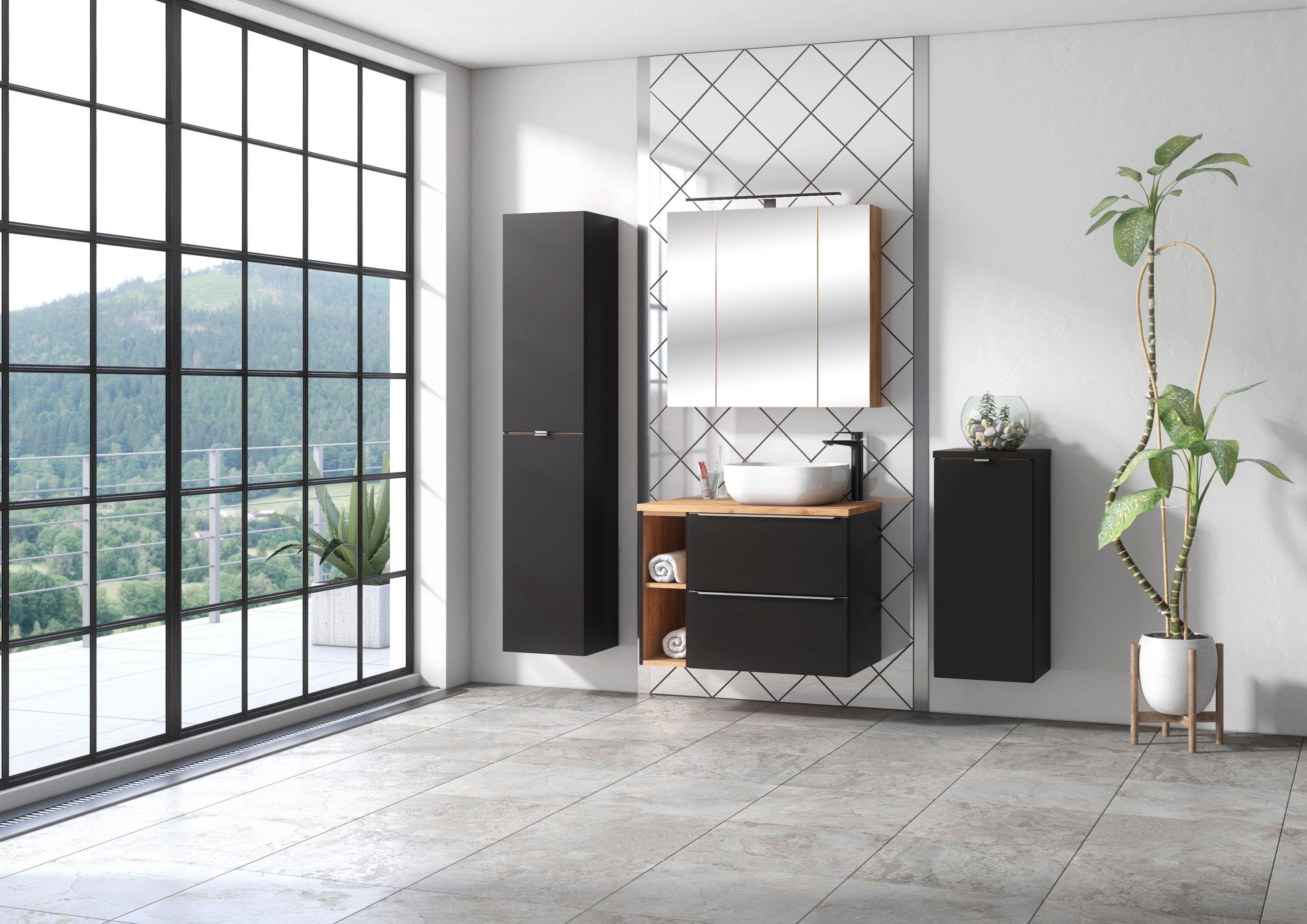 Fürdőszoba bútor - fekete - CAPRICE
