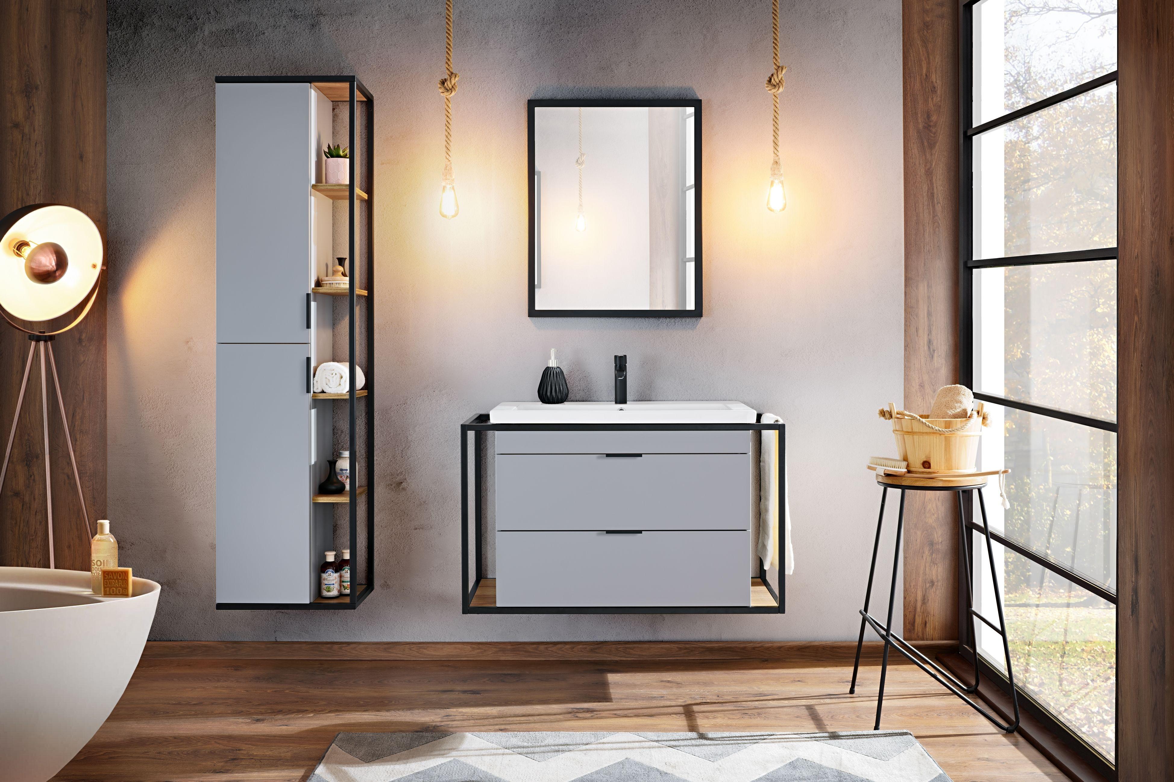 Fürdőszoba bútor - szürke - szürke - LIBERTY
