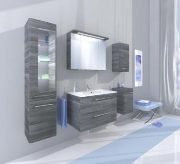 Modern, szürke fürdőszoba bútor szett (6 részes) – Glen (80)