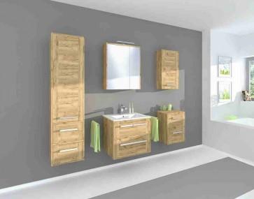 Modern fürdőszoba szekrény szett (6 részes) – Vincent arany tölgy (60)