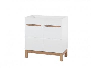 Szekrény mosdóhoz fürdőszobába 80 - 2D - fehér - BARI