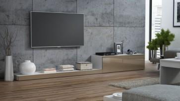modern TV állvány fehér / latte