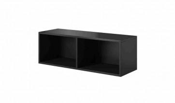 Trendi nyitott TV szekrény (fekete / fekete)