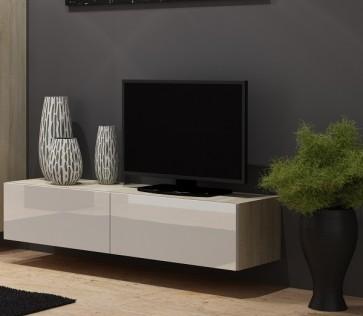11 - modern TV szekrény  Matt sanoma tölgy / fényes fehér