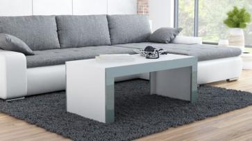 Modern dohányzó asztal fehér / szürke