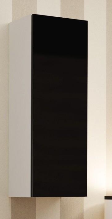 Magasfényű modern nappalibútor Matt fehér / fényes fekete