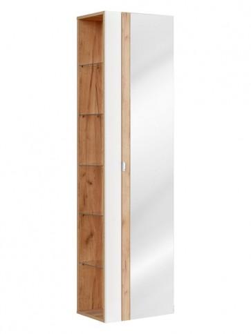 Magas tükrös szekrény fürdőszobába 45 - 1D – fehér - CAPRICE WHITE
