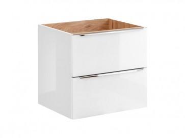 Szekrény mosdóhoz fürdőszobába 60 - 2S – fehér - CAPRICE WHITE