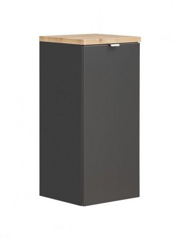 Alsó szekrény szennyestartó kosárral fürdőszobába 35 - 1D – fehér - CAPRICE BLACK