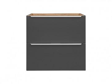 Szekrény mosdóhoz fürdőszobába 60 - 2S – fehér - CAPRICE BLACK