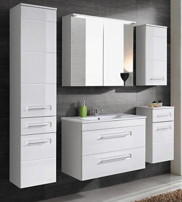 Modern fürdőszoba szett (6 részes), magasfényű frontokkal (60) - Whity