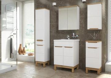 Stílusos fürdőszoba bútor (60 cm) (6 részes) - Bari