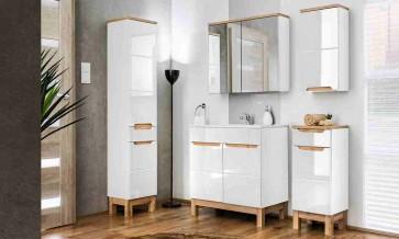 Stílusos fürdőszoba bútor 80cm (6 részes) - Bari
