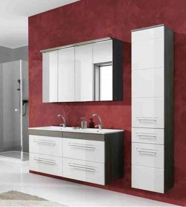 Barna-fehér fürdőszoba bútor szett (120) - Cosmos II.