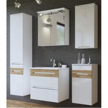Fehér fürdőszobabútor szett