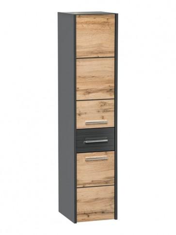 Magas szekrény fürdőszobába 30 - 2D-1S - EIVISSA ANTHRACITE