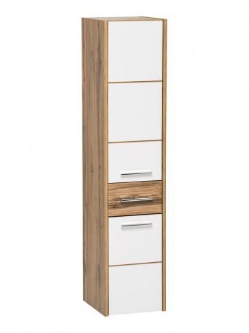 Magas szekrény fürdőszobába 30 - 2D-1S – fehér - EIVISSA WHITE