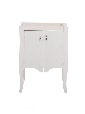 Szekrény mosdóhoz fürdőszobába 59 2D - fehér - ELIZA