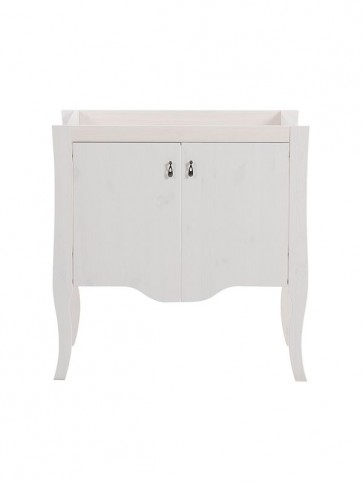 Szekrény mosdóhoz fürdőszobába 79 2D - fehér - ELIZA