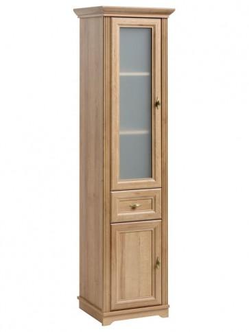 Magas álló szekrény fürdőszobába 49 2D/1S - - tölgy - PALAZZO QUERCIA