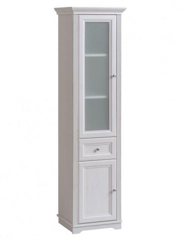 Magas álló szekrény fürdőszobába 49 2D/1S - fehér - PALAZZO WHITE