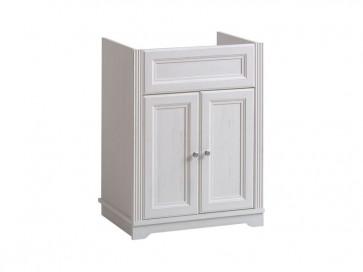 Mosdó alatti fürdőszobába 60 2D - fehér - PALAZZO WHITE