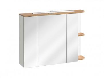 Tükrös szekrény fürdőszobába 94 - 3D – fehér - PLATINO