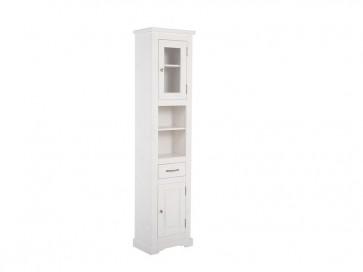 Magas álló szekrény fürdőszobába 45 2D/1D- fehér - ROMANTIQUE