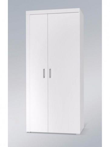 Stílusos állószekrény 2 ajtós - Rumba (Reg.1) fehér-fehér