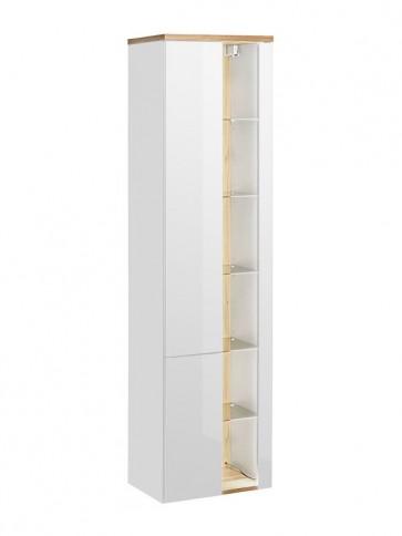 Magas szekrény fürdőszobába - fehér - 45 2D - TAINO WHITE