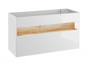 Mosdó alatti szekrény fürdőszobába 120 1S - fehér - TAINO WHITE