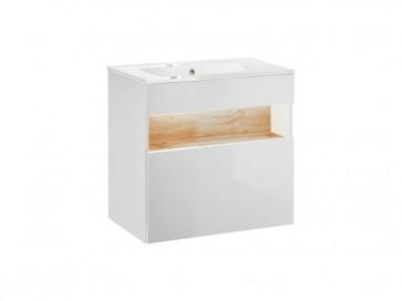 Mosdó alatti szekrény fürdőszobába 60 1S - fehér - TAINO WHITE