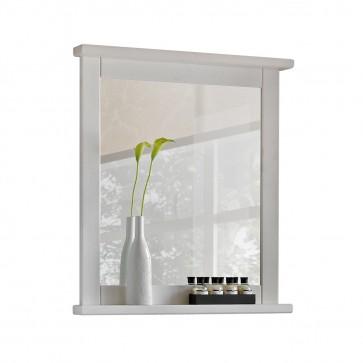 Fakeretes fali tükör fürdőszobába - fehér