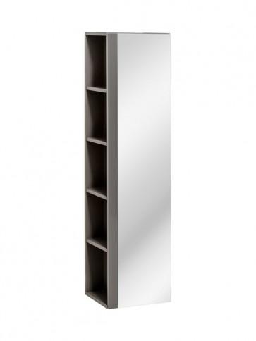 Magas tükrös szekrény fürdőszobába - 1D - VIS GREY