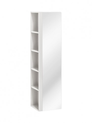 Magas tükrös szekrény fürdőszobába - 1D - VIS WHITE