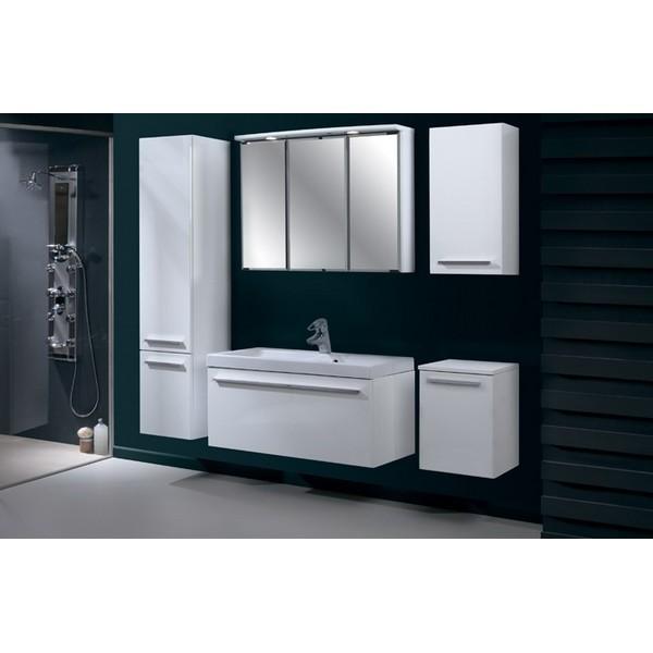 Komplett fürdőszobabútor szett, mosdókagylóval, FEHÉR színben (60 ...