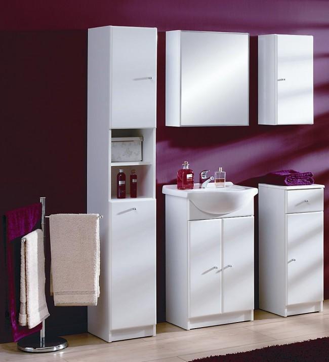 Stílusos fürdőszoba szett (6 részes), fehér – Flamenco