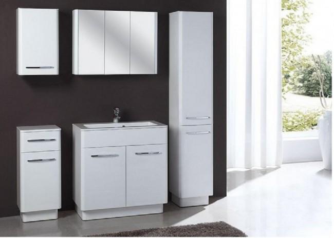 fürdőszobabútor szett (6 részes) – Róma fehér 80