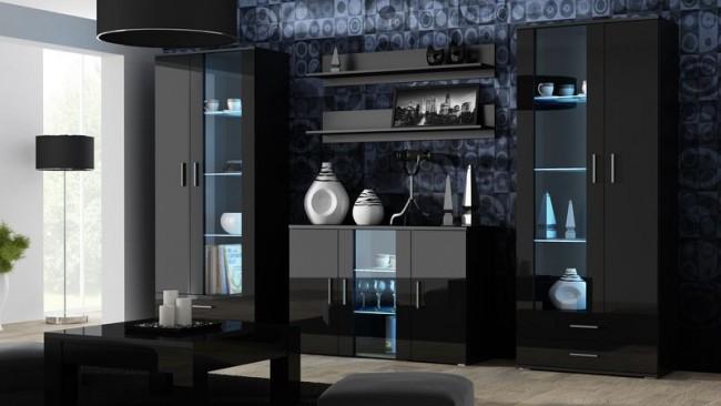 Modern nappali szekrénysor (5 színben) - Bella 10.