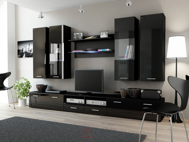 modern nappali szekr nysor t bbf le sz nben dear ii. Black Bedroom Furniture Sets. Home Design Ideas