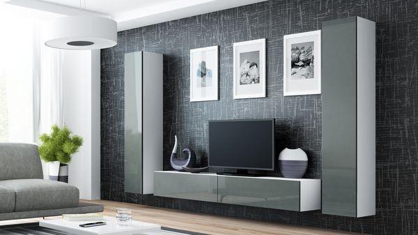 Magasfényű nappali szekrénysor – Viral IV/A