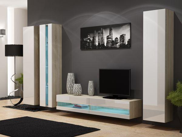 Magasfényű nappali szekrénysor – Viral new VII.