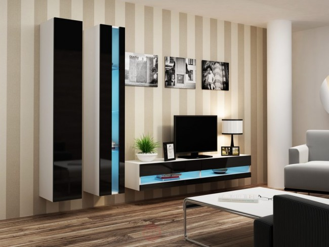 Modern nappali szekrénysor (4 színben) – Viral new V.