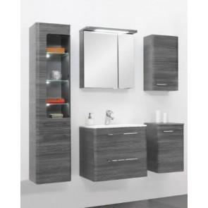 Modern, szürke fürdőszobabútor szett (6 részes) – Glen (60)