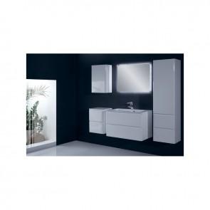 Fehér magasfényű fürdőszobabútor szett (6 részes) – Málta 60