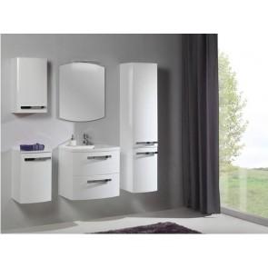 Fehér, magasfényű fürdőszoba bútorszett (7 részes) – Olívia